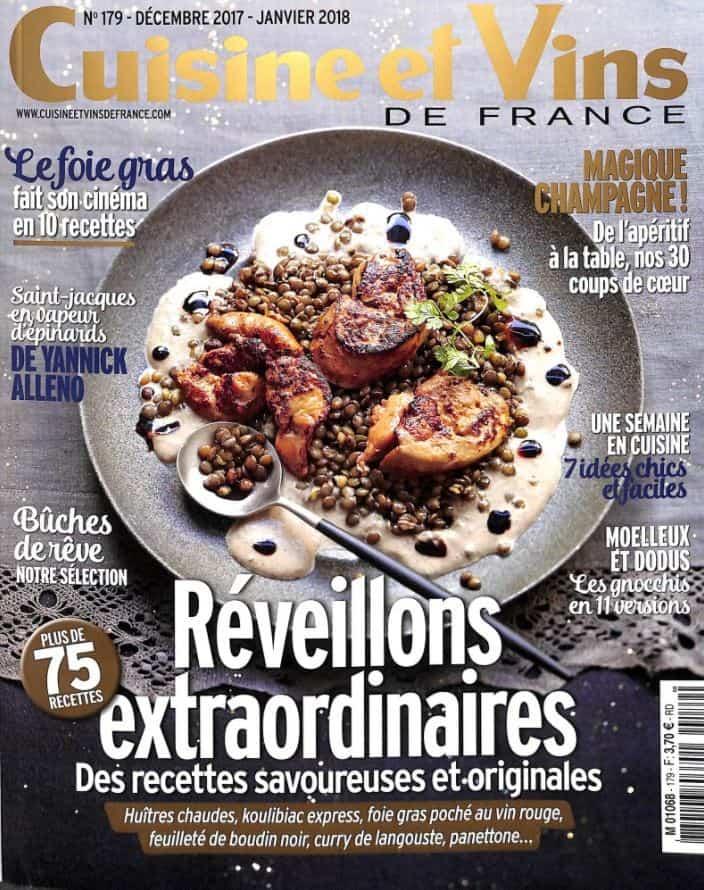 R veillons extraordinaires avec le magazine cuisine et for Cuisine et vins de france
