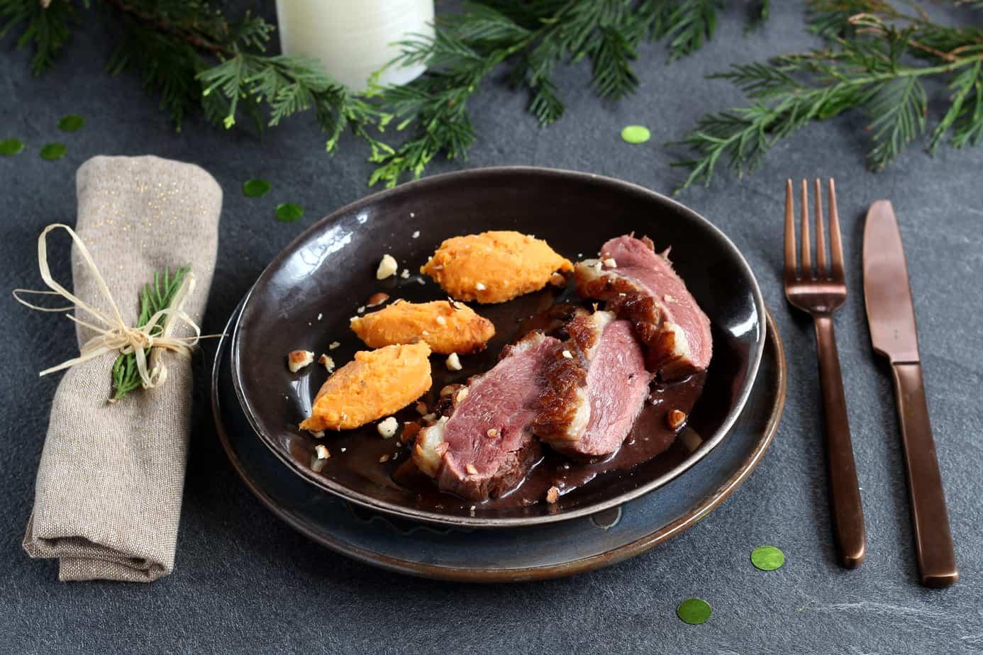 Magret de canard, sauce cacao et purée de patates douces - 750G - CIFOG / ADOCOM-RP