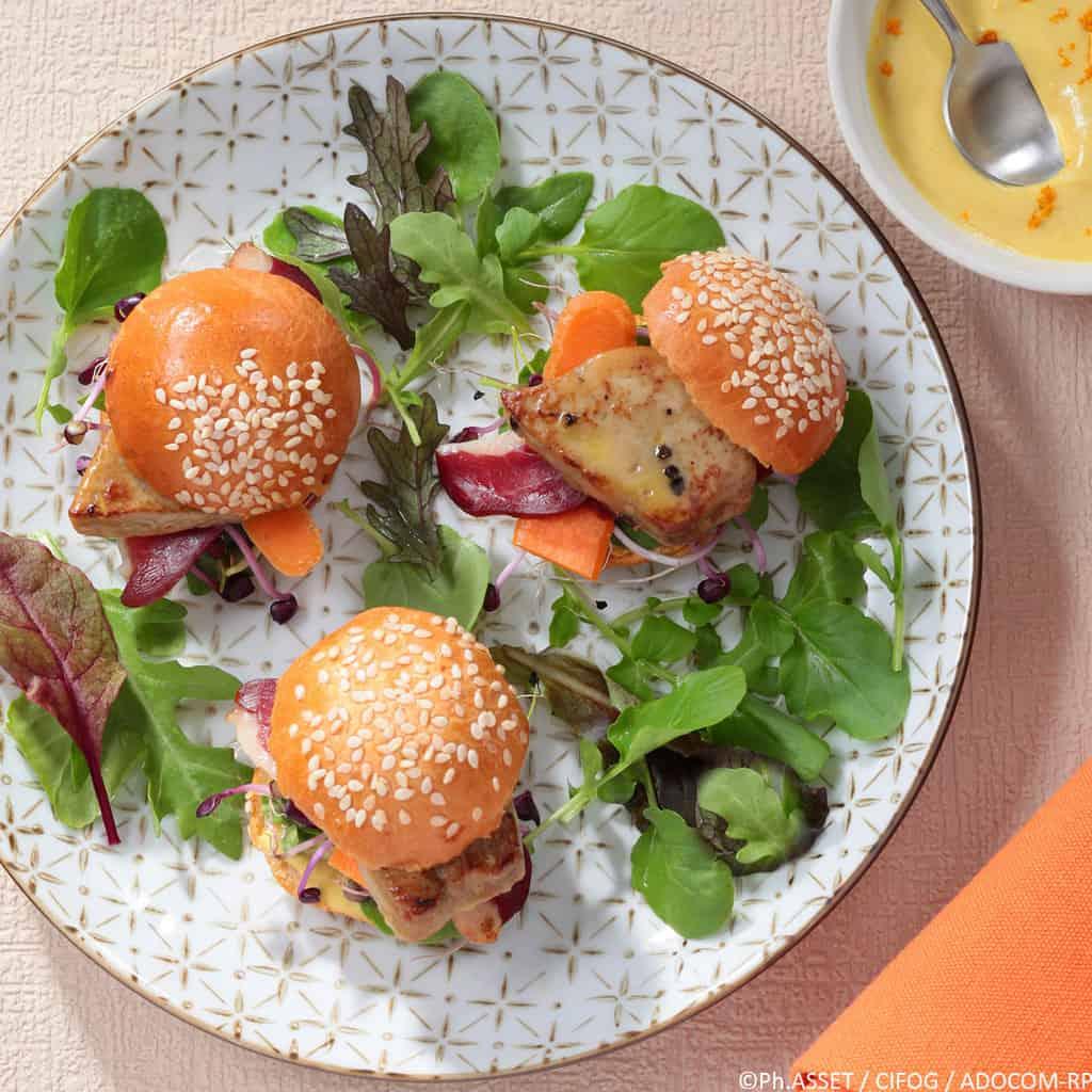 Mini-burger foie gras et magret - Ph.ASSET / CIFOG / ADOCOM-RP