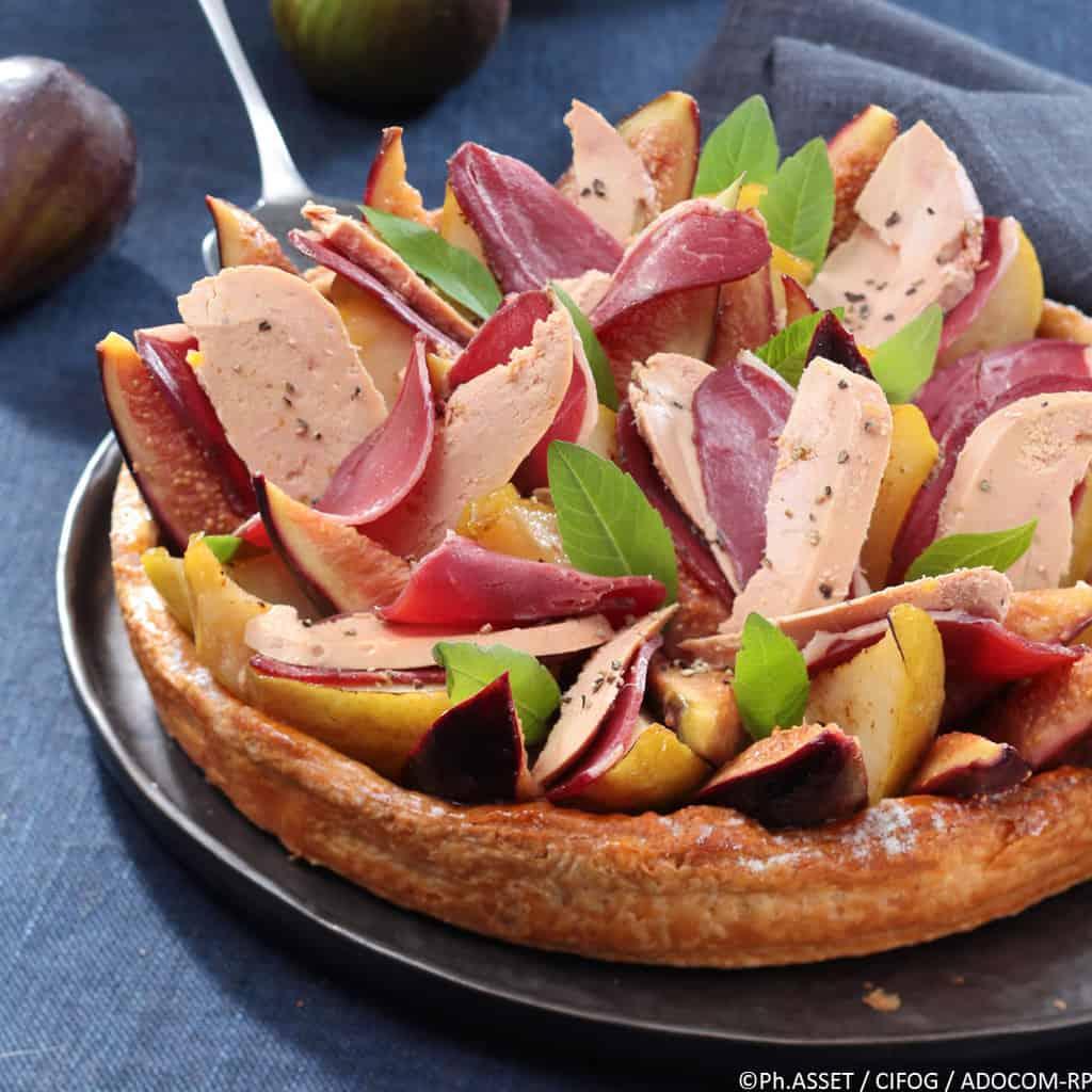 Tarte merveilleuse poire, magret et foie gras - Ph.ASSET / CIFOG / ADOCOM-RP