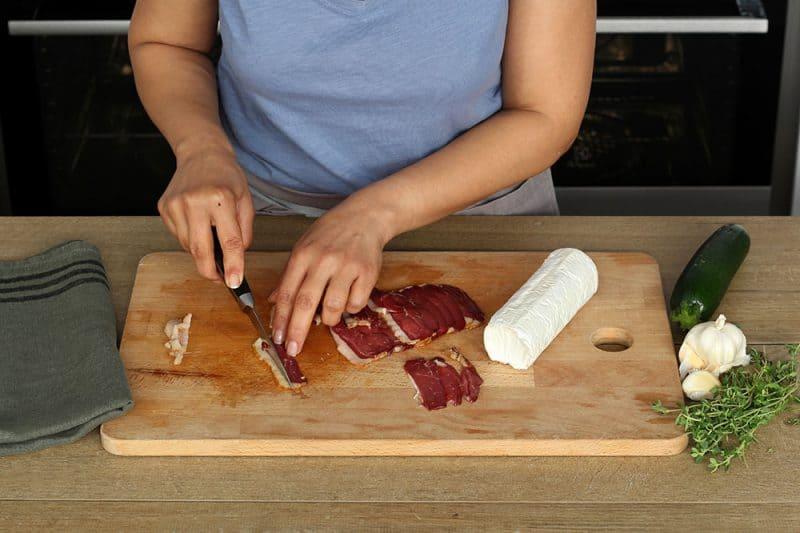Croque monsieur au Magret de Canard fumé, légumes rôtis et fromage de chèvre - 750g